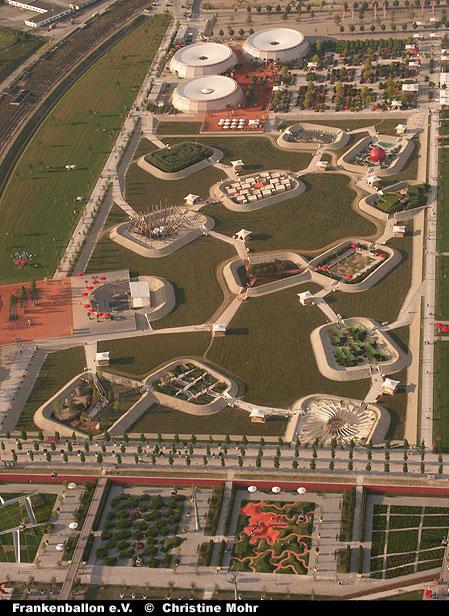 Start von der Bundesgartenschau 2005 in München