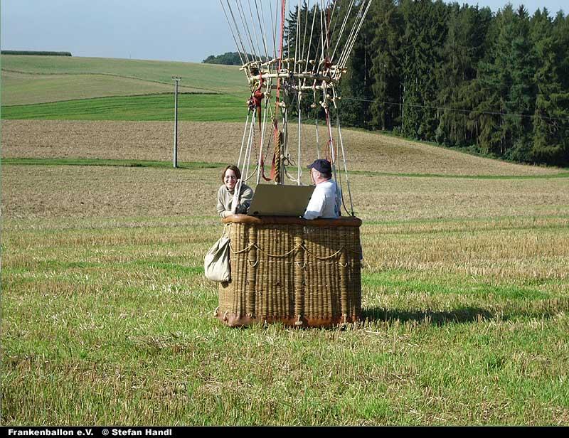 Jungfernfahrt des Gasballones D-Pirat