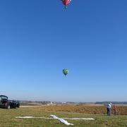 Anfahrt der Ballone auf das Zielkreuz beim Frankenballoncup 2008