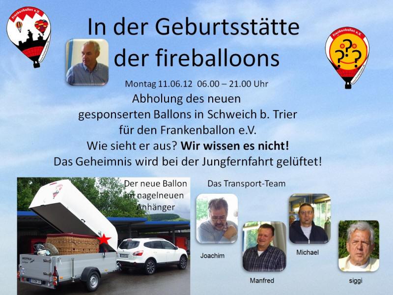 """Zu Besuch bei """"Fire Balloons"""" - unser neuer Ballon entsteht"""