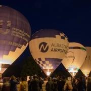 Ballonglühen am Volksfest in Nürnberg 2019