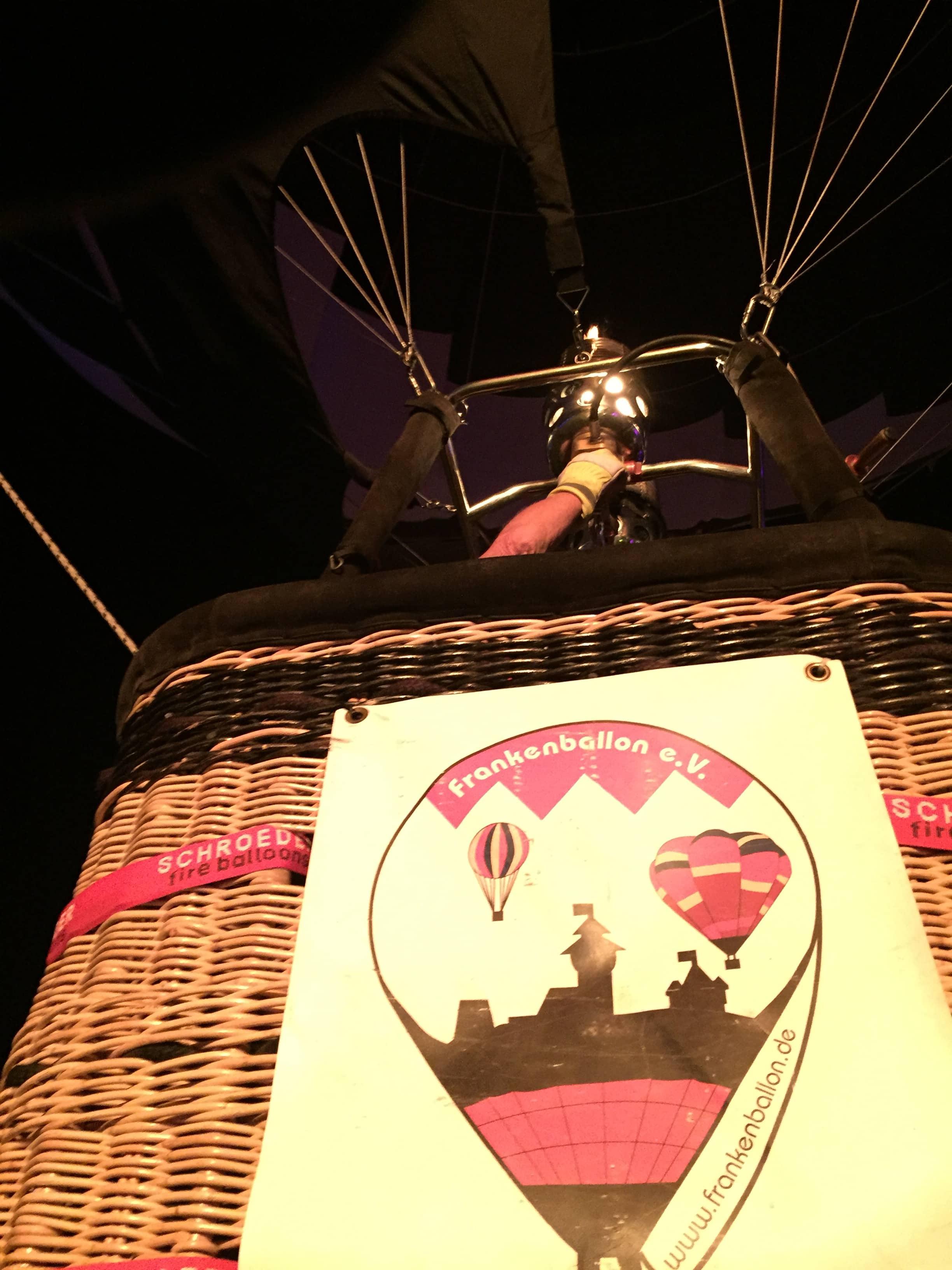 Ballonkorb mit Frankenballon-Logo