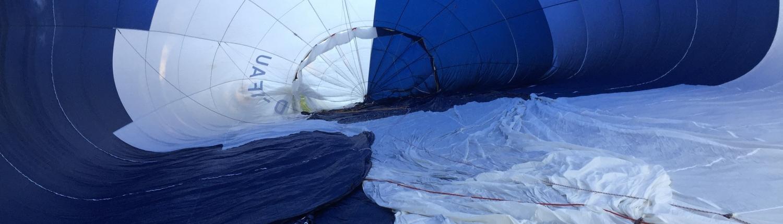 Innenansicht der Ballonhülle D-OFAU