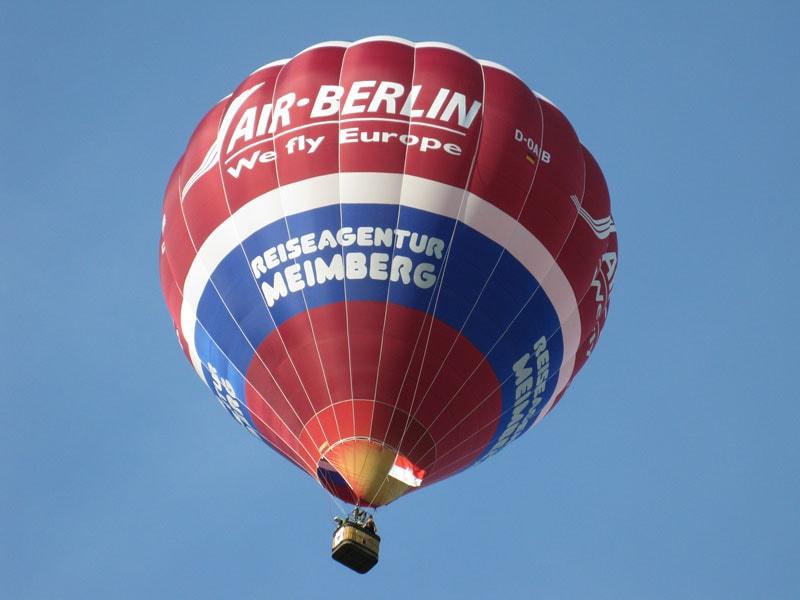 Heißlufballon von Air-Berlin und der Reiseagentur Meimberg