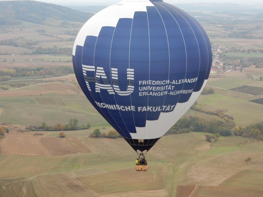 Heißluftballon der Friedrich-Alexander-Universität Erlangen-Nürnberg