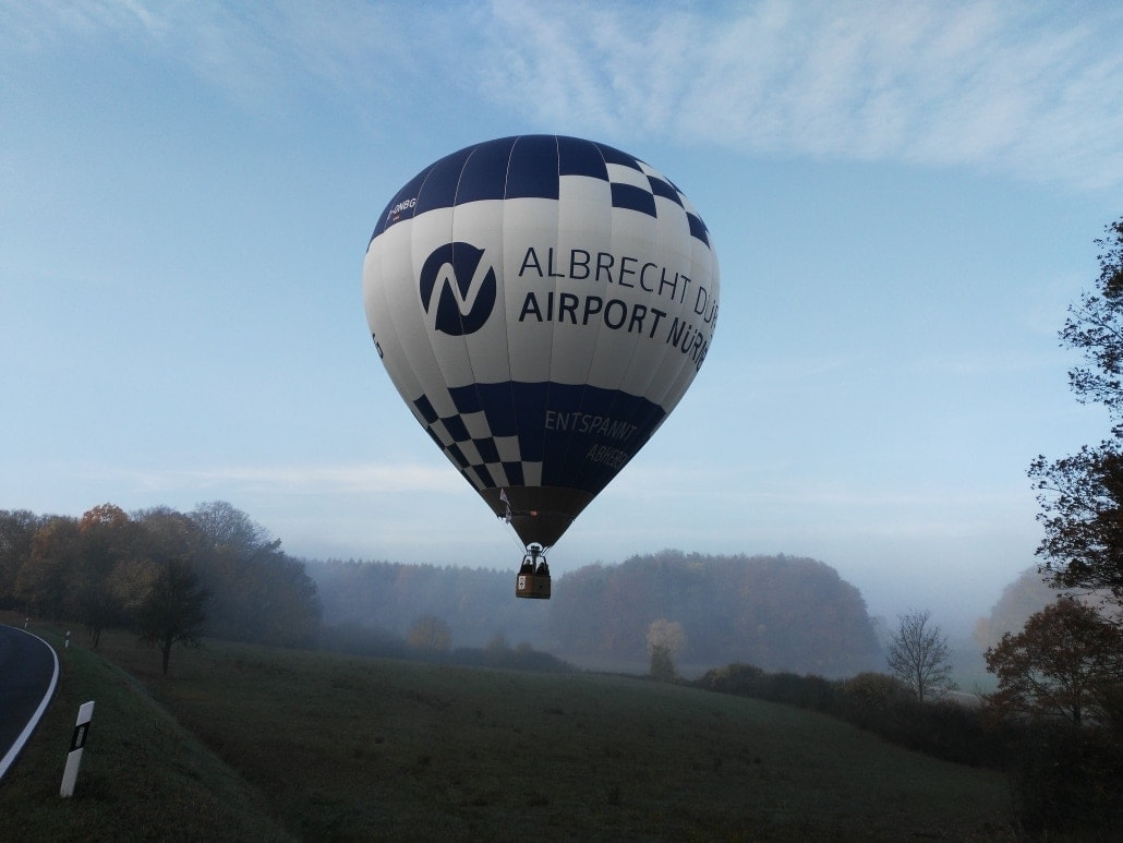 Heißluftballon des Albrecht Dürer Airport Nürnberg