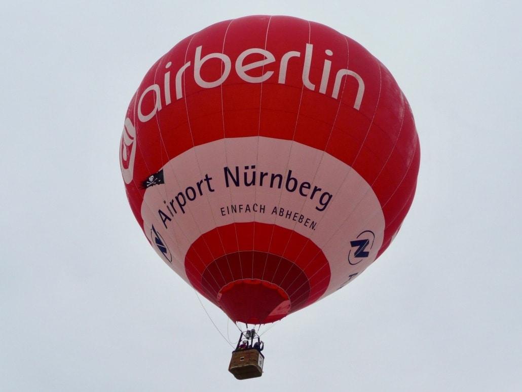 Heißlufballon von Air-Berlin und dem Airport Nürnberg