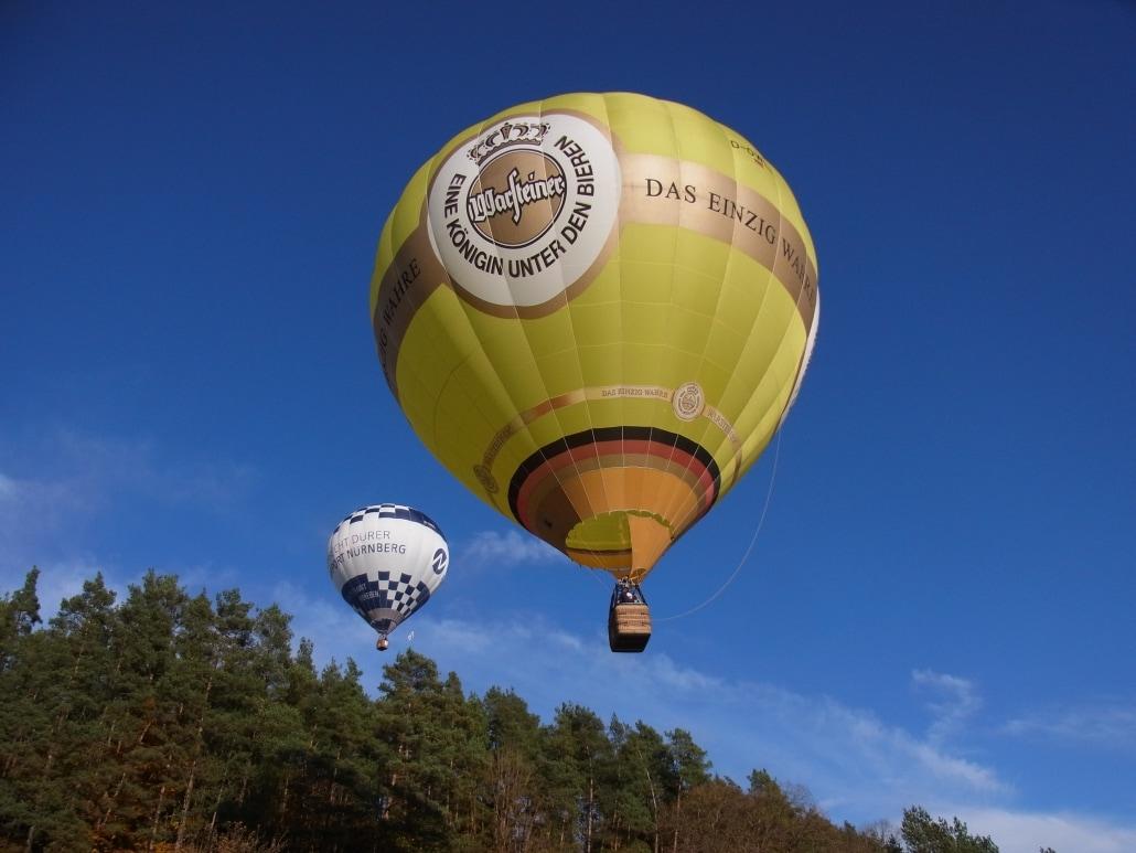 Heißluftballon der Brauerei Warsteiner