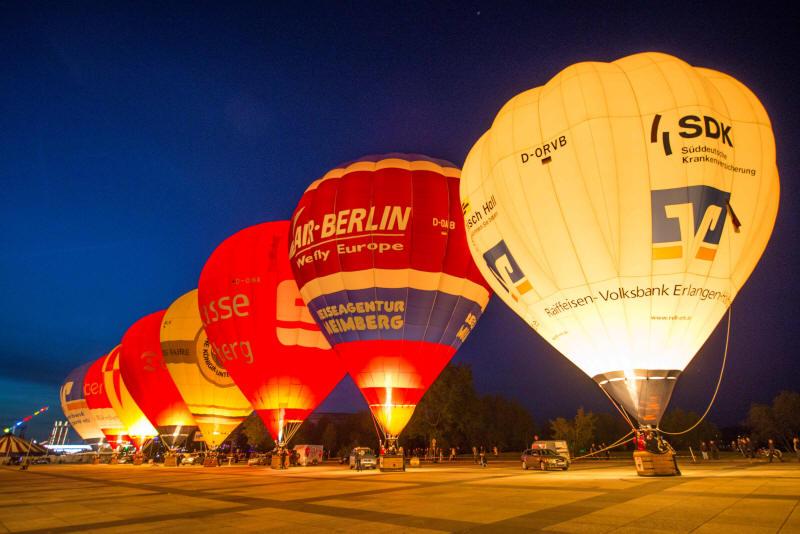 Ballonglühen mit mehreren Ballonen