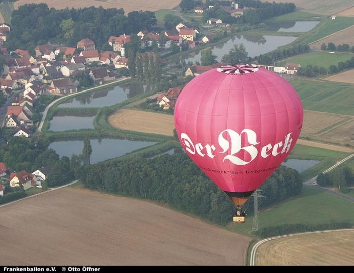Beck-Ballon von oben