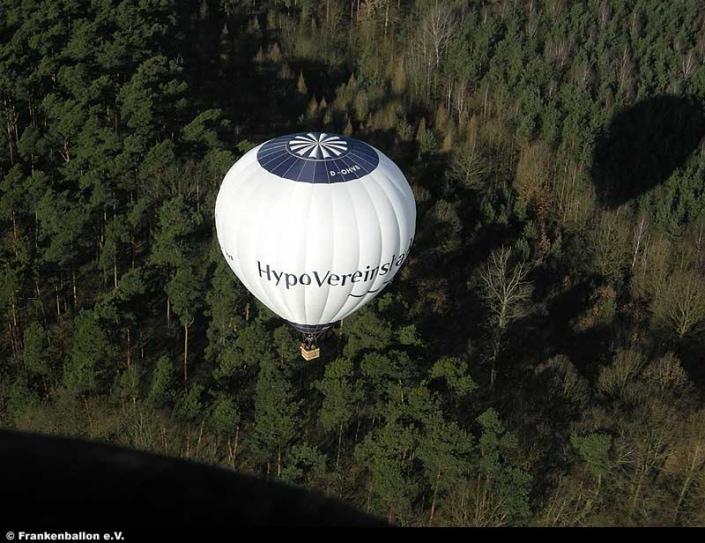 Der Hypo-Vereinsbank-Ballon von oben