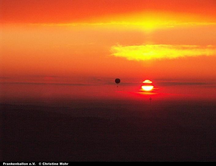Gasballon in der Abendsonne