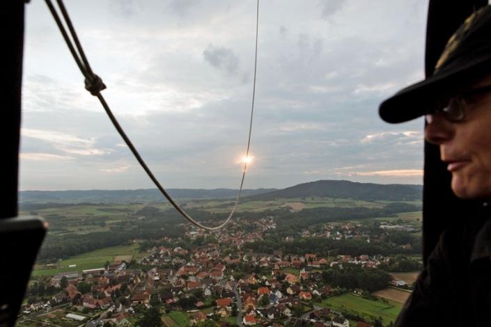 Blick aus dem Ballonkorb