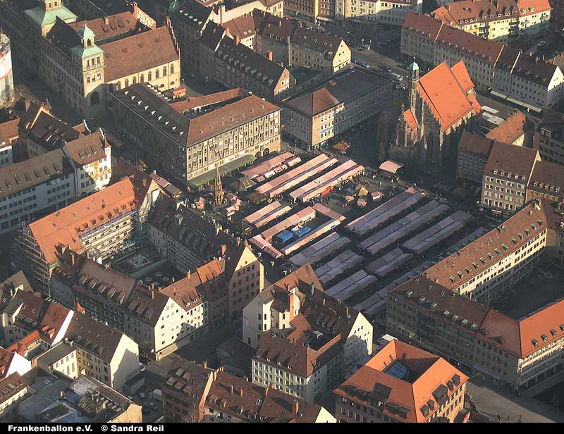 Nürnberger Christkindlesmarkt aus dem Ballonkorb