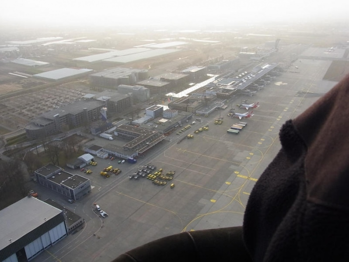 Nürnberger Flughafen von oben