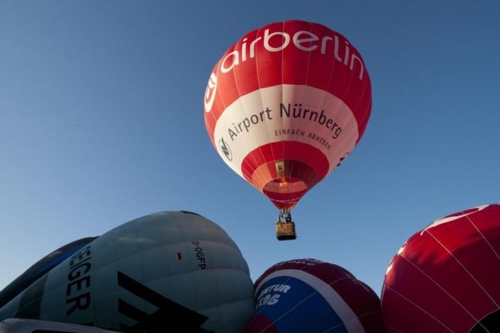 Startender Ballon beim Ballonmeeting in Hannberg