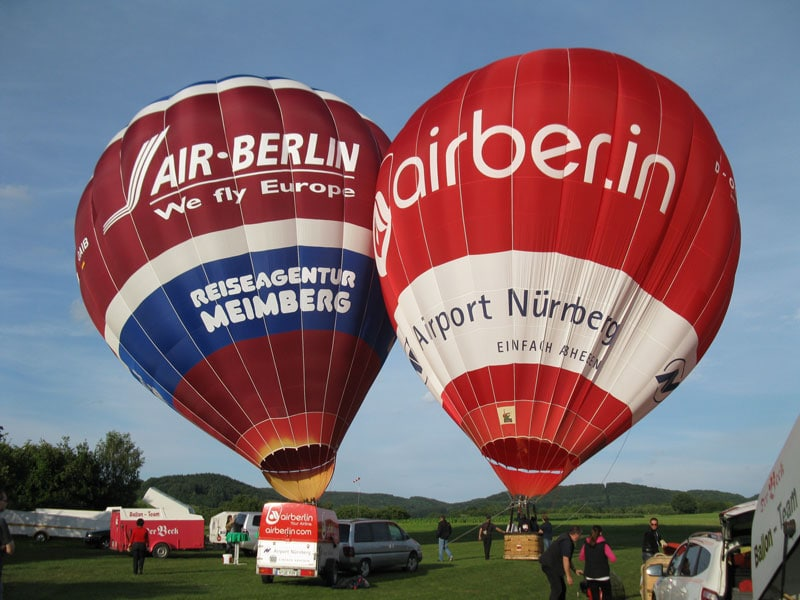 Taufe des Air-Berlin-Ballons
