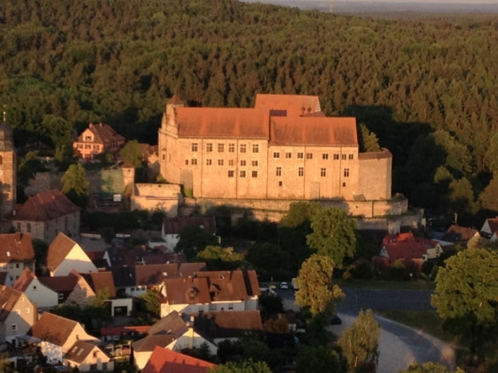Burg Cadolzburg aus dem Ballonkorb
